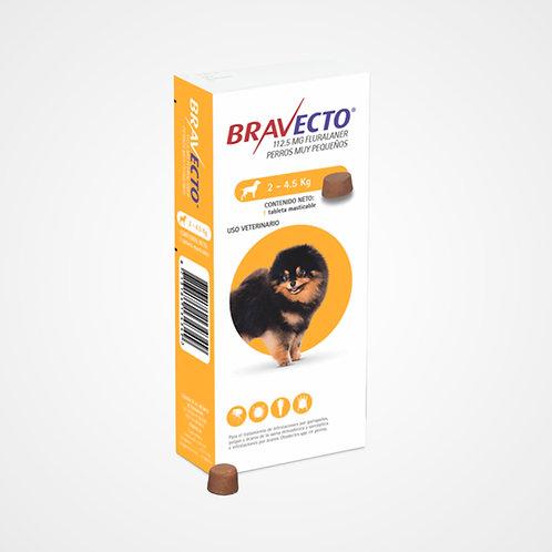 Bravecto 2 a 4.5kg (Pastilla anti-pulgas)