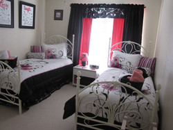 Pink and Black Room