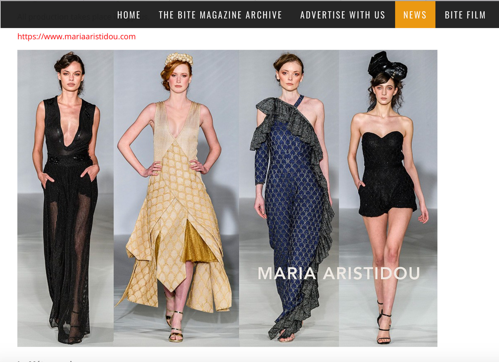 Fullscreen Page Fashion Design Maria Aristidou Fashion Designer