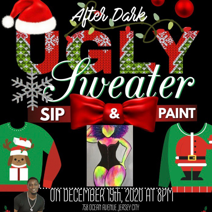 ADULT UGLY SWEATER SIP & PAINT