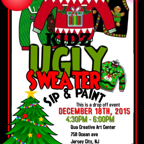 KIDZ UGLY SWEATER SIP & PAINT