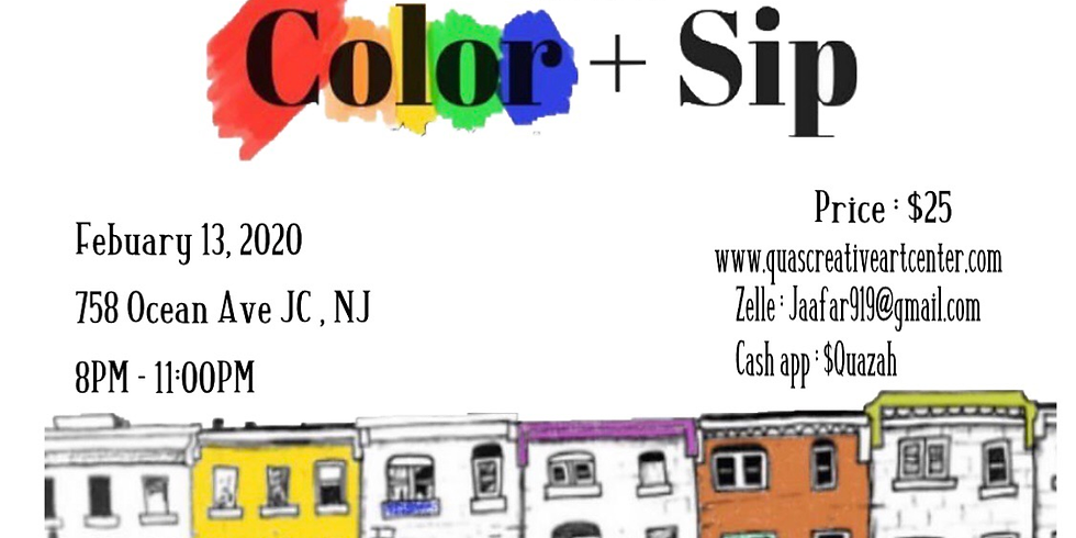 Adult Color & Sip