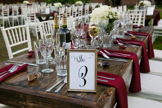 Number or label tables so your MC can call groups to the buffet