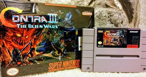 Contra III 3 Alien Wars Super Nintendo Custom In Box!