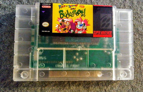 Ren & Stimpy Buckeroos *Custom* SNES *Clear*