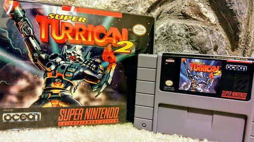 Super Turrican 2 Super Nintendo Custom In Box!