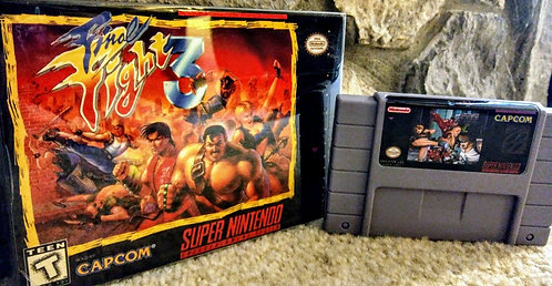 Final Fight 3 *Custom* Super Nintendo NEW!
