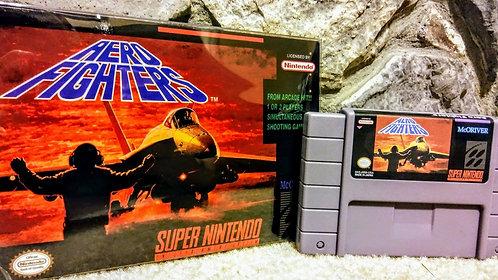 Aero Fighters Super Nintendo Custom In Box!