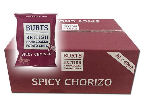 英國品牌Burts薯片 - 辣肉腸熱浪味 一箱20包