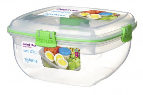 Sistema 1.63L Salad Max Box (green)