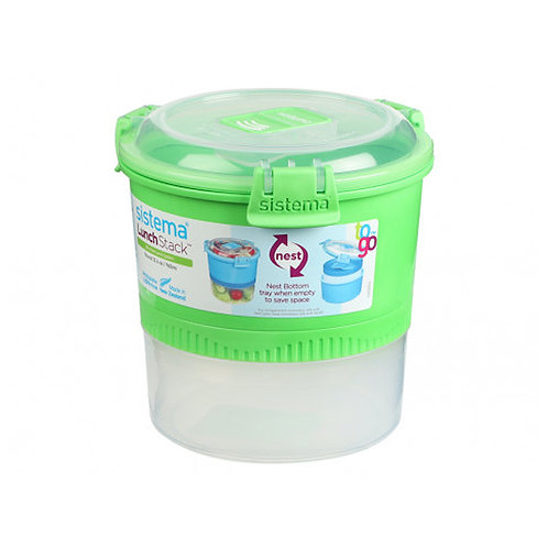 Sistema Lunch Stack 965ml - round (green)