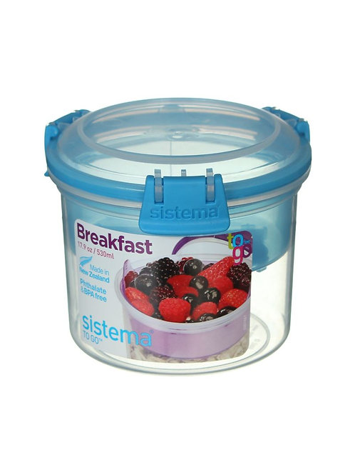 Sistema Breakfast Box 530ml (blue)