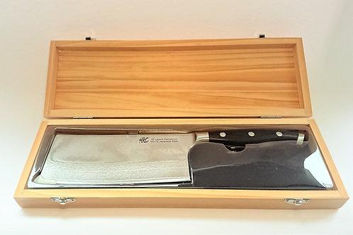 "HRC AUS10大馬士革鋼8吋切肉刀 Damasus AUS10  Cleaver 7"" Knife"