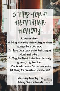 Top 5 Healthy Holiday Habits