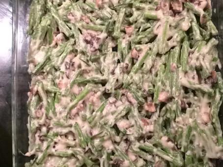 Clean Green Bean Casserole w/ crunchy almond crust