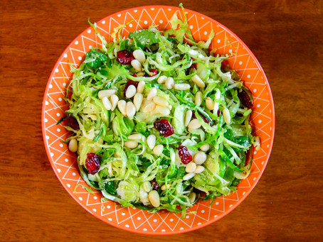 Shaved Brussels Sprout Salad with EPIC lemon dressing
