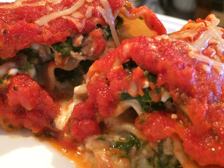 Spinach & Sausage Lasagna Rolls
