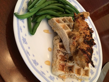 Oven Fried Chicken & Waffles
