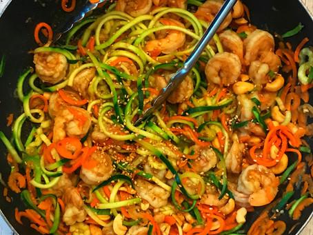 Singapore Shrimp w/ Veggie noodles