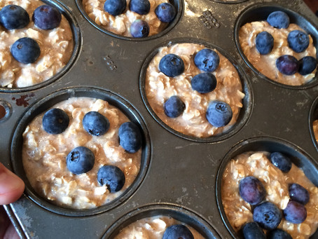Conscious Cravings: Oatmeal Blueberry Banana Cups