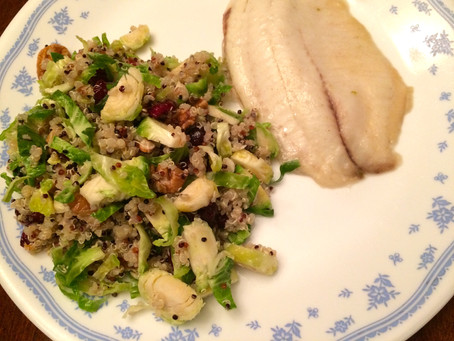 Honey Lime Tilapia and Brussel Sprout & Quinoa Salad