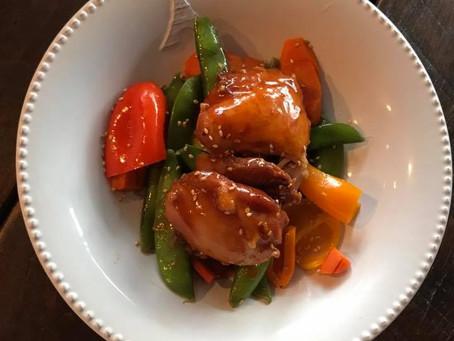 Paleo Sesame Orange Chicken (Instant Pot)