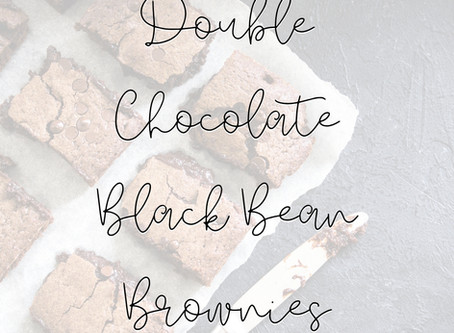 Double Black Bean Brownies