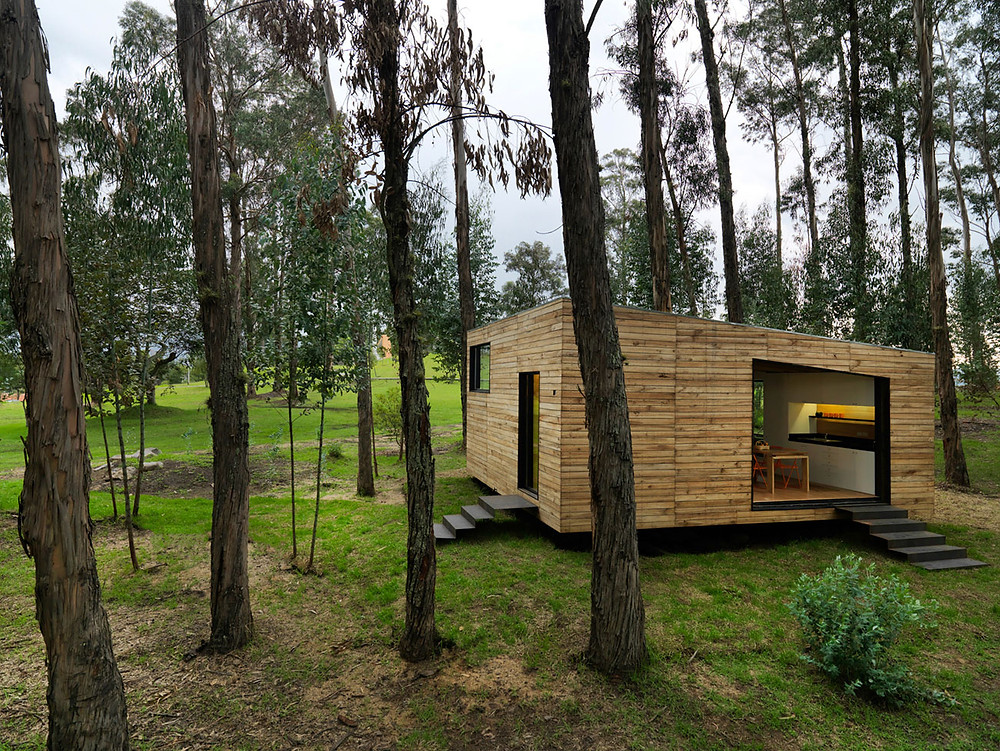 Casa de estido moderno hecha en Madera I Patagonia Log Homes