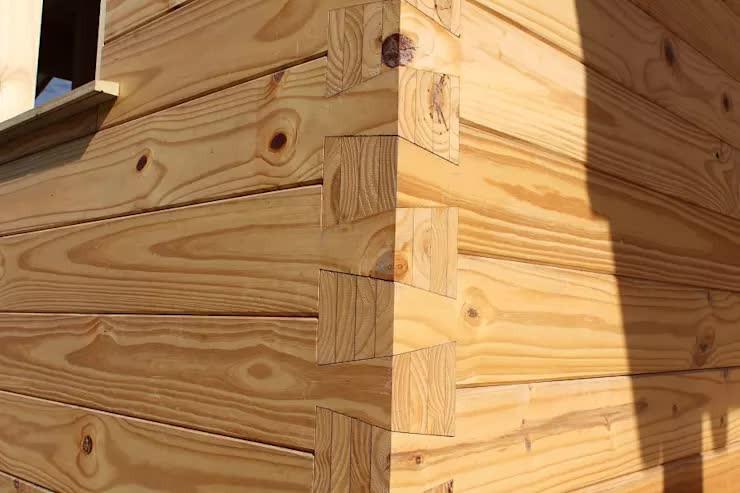 Sistema por encastre de maderas de Patagonia Log Homes