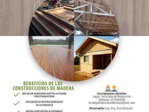 LA PROVINCIA REALIZARÁ UNA CAPACITACIÓN EN CONSTRUCCIÓN DE CASAS DE MADERA