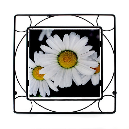Metal Trivet 6x6 with tile