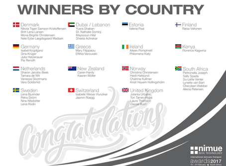 🎉 I am happy to announce that I am a winner of Nimue International Skincare Therapists Competition