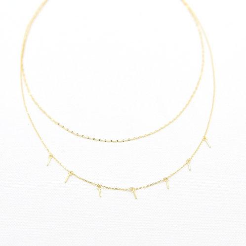 Misha Bar Layered Necklace