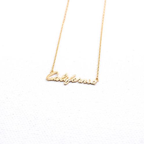 Cali Script Necklace