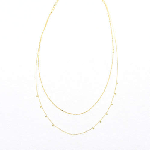 Lina Disc Layered Necklace