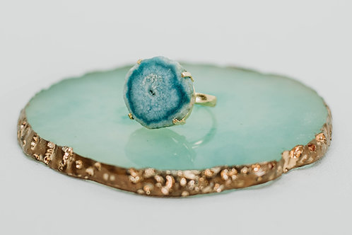 Mya Sliced Agate Ring