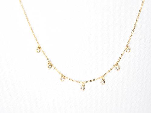 Jewel Crystal Drop Necklace