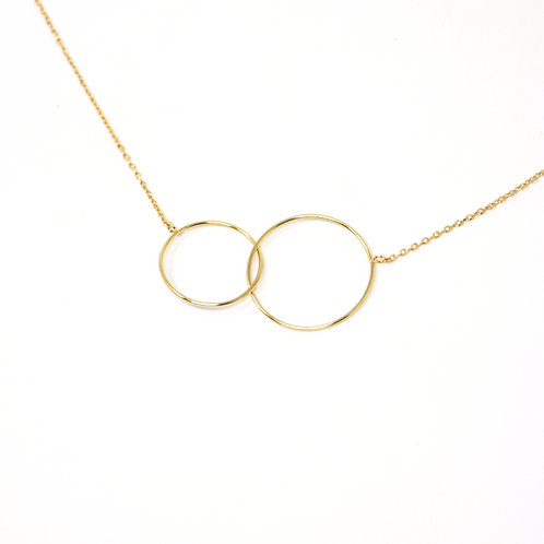 Mother & Daughter 14k Link Necklace
