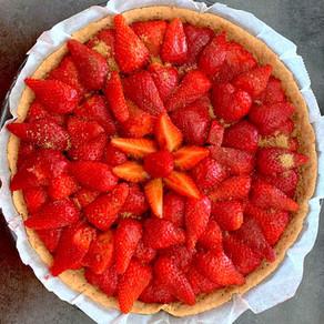 Baked Strawberry Tart !