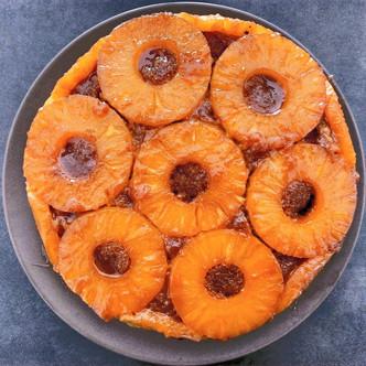 Tarte à l'ananas caramélisée