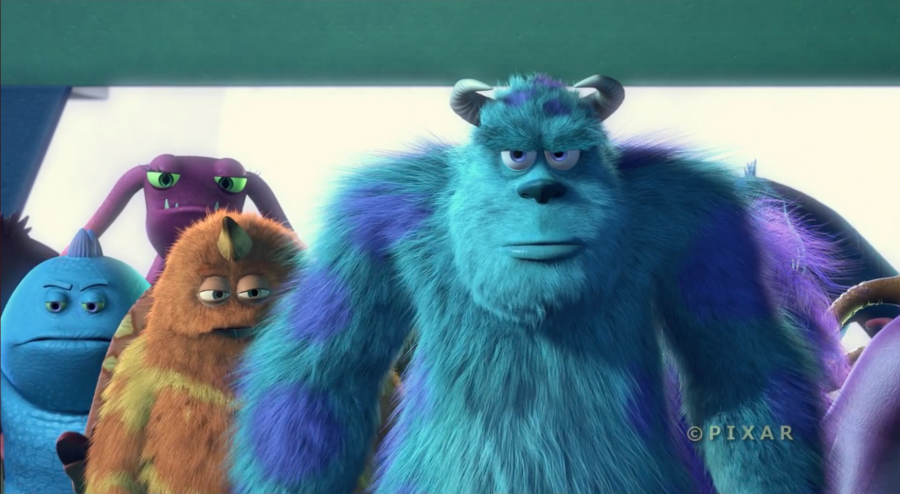 Close shot from Monsters Inc.