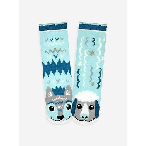 Wolf & Sheep - Pals Socks - Mismatched Animal Socks