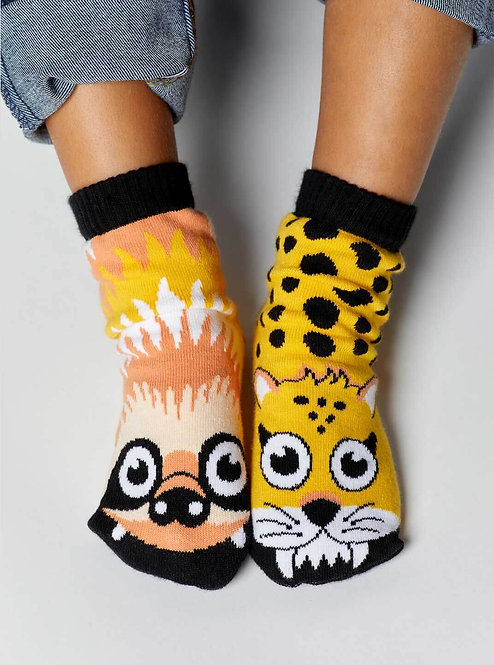 Sloth & Cheetah - Pals Socks - Mismatched Animal Socks