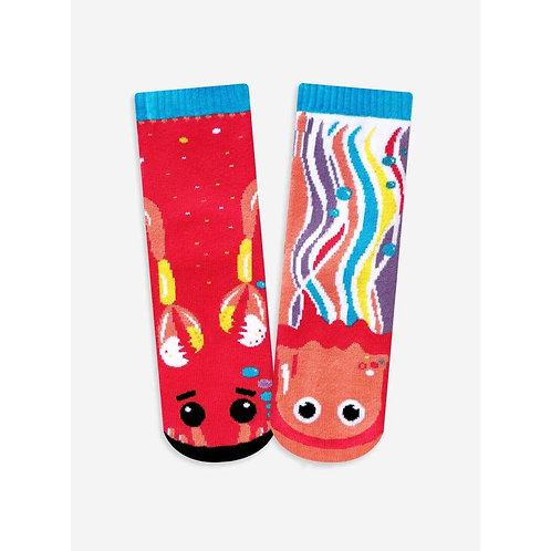 Crab & Jellyfish - Pals Socks - Mismatched Animal Socks
