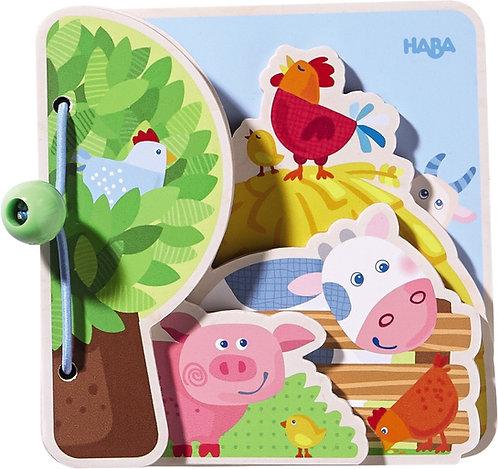 Wooden Baby Book Farm Friends