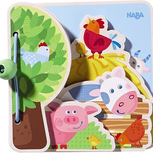 Wooden Baby Book Farm Friends