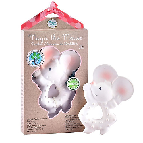 Meiya the Mouse - Natural Rubber Teether