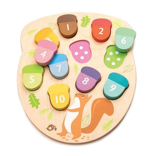How many Acorns? - Tender leaf toys