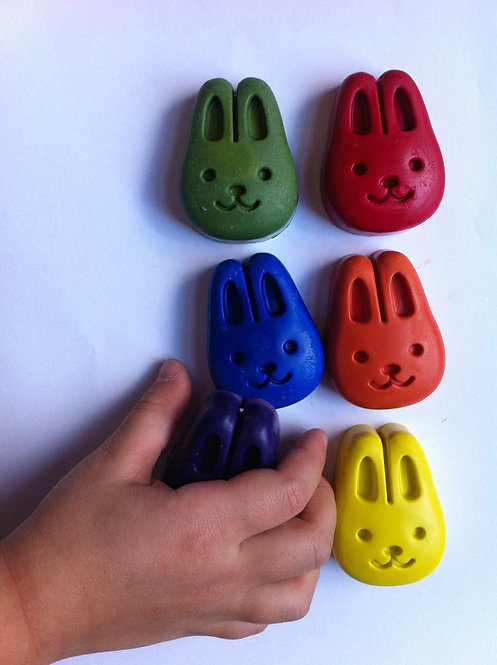 Set of 6 Bunny crayons