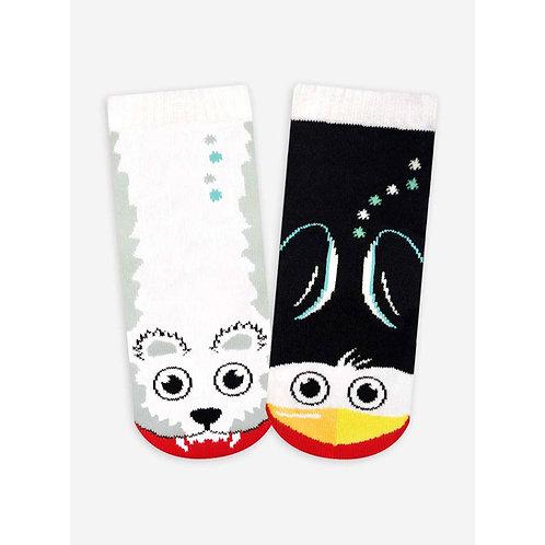 Polar Bear & Penguin - Pals Socks - Mismatched Animal Socks